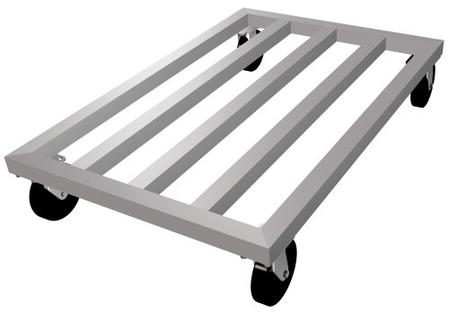 Lockwood MDR-2460-5 Aluminum Mobile Dunnage Rack with Swivel Casters, 1000 lbs Load Capacity, 60
