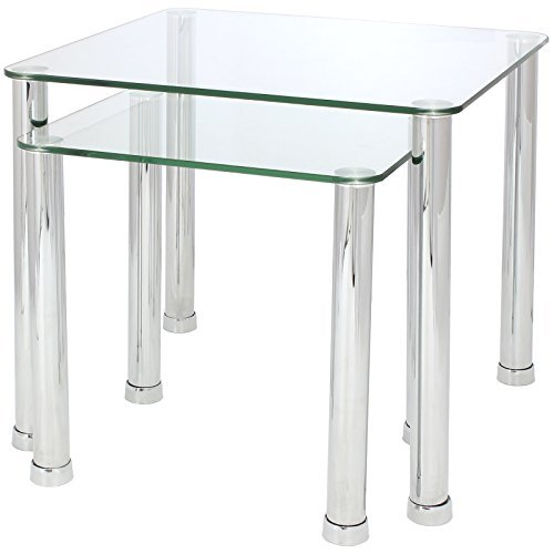 Hartleys Nest of 2 Tables - Available in Black or Clear Glass