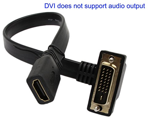 i 24 1 to hdmi Flat Cable,SinLoon Gold-plated 90 Degree Angle UPward & Downward DVI to Hdmi 1080p Hdmi Video Converter Adapte Cable HDTV, Plasma, DVD and Projector(dvi-D 24+1 M-F) (Xbox 360 Vga Lcd)