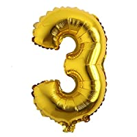 "16"" inch Single Gold Alphabet Letter Number Balloons Aluminum Hanging Foil Film Balloon Wedding Birthday Party Decoration Banner Air Mylar Balloons"