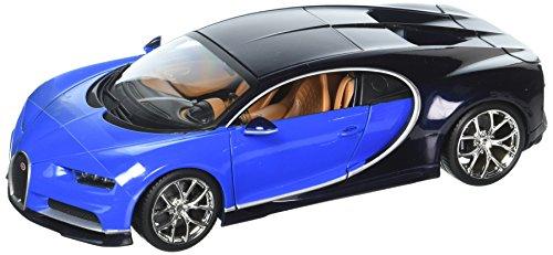 BBURAGO 1:18  Bugatti Chiron Blue Diecast Model Roadster