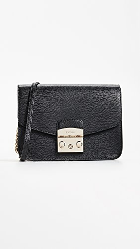 Onyx FURLA Bag Body Cross Crossbody Small Black Metropolis Women��s fwwHxqOP