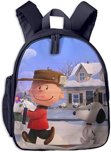 スヌーピーが後についてきます リュックサック子供用 スクールバッグ 通園 遠足 幼稚園 可愛い キッズ ベビー バックパック 男女兼用