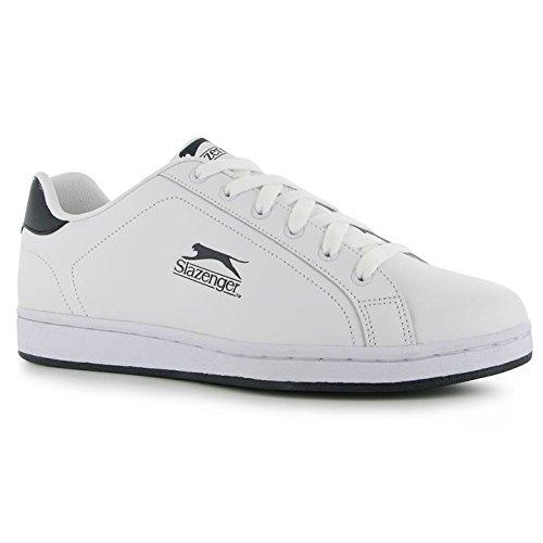 Slazenger Mens Ash Lace Trainers Simplistic Design Sport Casual Cushioned Shoes White/navy TZz0Tx