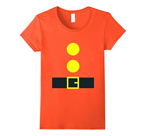 Womens Halloween Dwarf Theme Party Costume T-Shirt Medium Orange