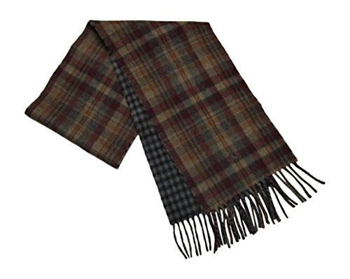 Polo Ralph Lauren Scarf Reversible Wool Blend (Red/Brown / Grey) ()