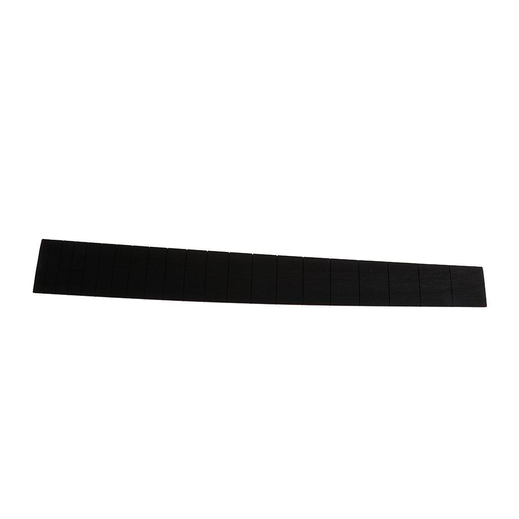 B Blesiya Wooden Acoustic Guitar Fretboard Fingerboard Guitar Parts Replacement - Black