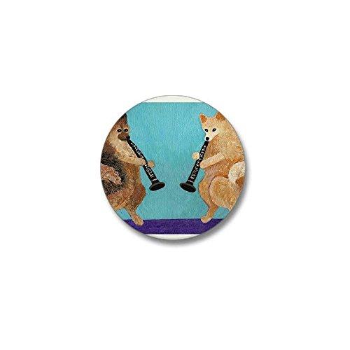 - CafePress Pomeranian Clarinet Duo Mini Button 1