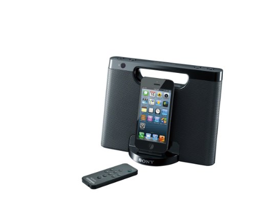Sony RDPM7IPN Lightning iPhone/iPod Portable Speaker Dock (Black) by Sony