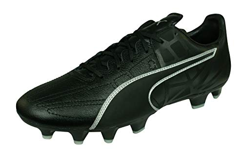 PUMA Evospeed 3.5 LTH FG Mens Leather Soccer Boots/Cleats-Black-9.5