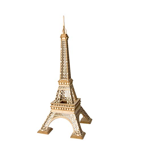 Rolife 3D Wooden Puzzle Assemble Toy-DIY Model Craft Kit-Home Decoration-Best Educational Birthday Day Gift for Boys Girls Friends Son Adults(Eiffel Tower) - Puzzles Craft Kit