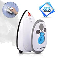 PurSteam Travel Steam Iron Dual Voltage 420W Power Lightweight Best For Travel with Anti Slip Handle and Non Stick Soleplate