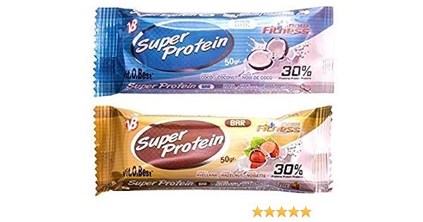 SUPER PROTEIN BAR 50 g AVELLANA (25 Uds.) - Suplementos Alimentación y Suplementos Deportivos - Vitobest