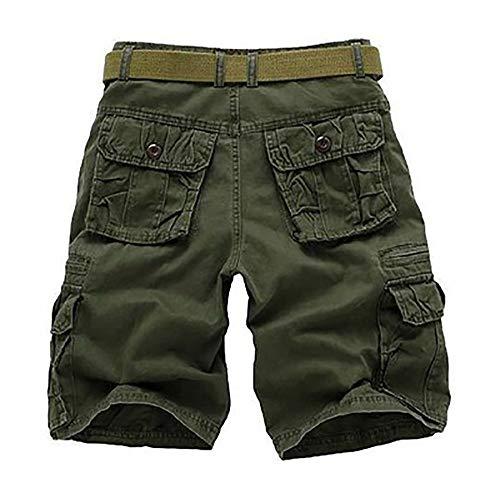 Lannister Regolare Pantaloncini Corti Casual Cotone 1 Vestibilità Abbigliamento Lino Pantaloni Di Uomo Con Grün Da Laterali Festivo 2 rxH1rnqZf
