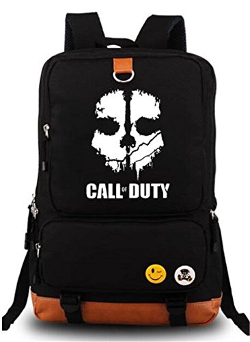 AUGYUESS Luminous Cosplay School Bag Daypack Shoulder Bag Bookbag Backpack (1) (Black 1) Review