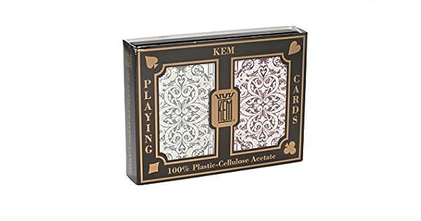 Amazon.com: KEM Jacquard Cartas de juego: 2 Deck Set Verde ...