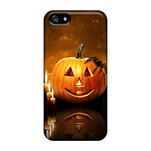 New Premium MzAOHEc366NSAFk Case Cover For Iphone 5/5s/ Halloween Pumpkin Candles Protective Case Cover