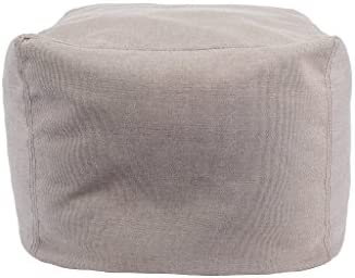 Core Covers Outdoor Indoor Sunbrella Pouf, 20 x 20 , Sailcloth Space