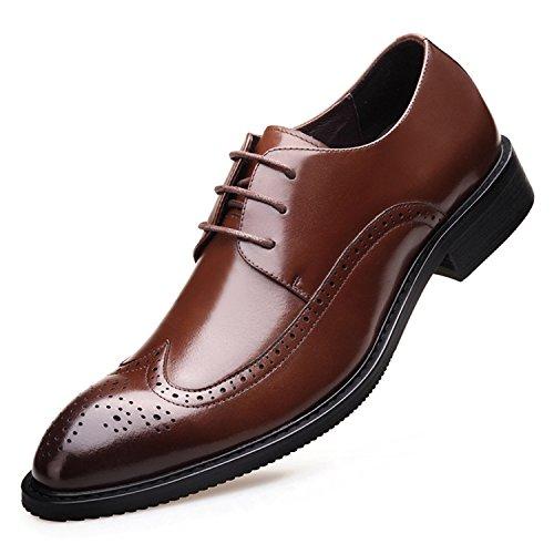 Rainstar Vestido Con Punta De Ala Para Hombre Oxfords Zapatos Clásico Con Cordones De Época Brogue Marrón