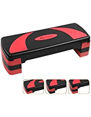 Active Forever Aerobic stepper voor thuis, quiltplank, 3 instelbare hoogtes (10 cm/15 cm/20 cm), geschikt voor thuis en op kantoor