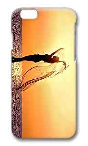 Adorable beach sunset girl silhouette Hard Case Protective Shell Cell Phone Cover For Apple iphone 6 4.7 - PC 3D