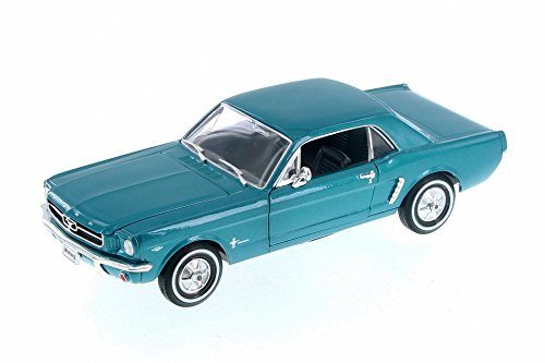 Welly 1964 Ford 1/2 Mustang Coupe, Green 22451WGN - 1/24 Scale Diecast Model Toy Car ()
