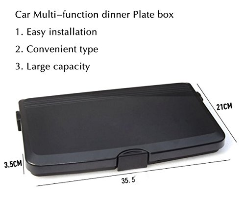 MQYH@ Multipurpose Car Tray - Car Seat Activity & Snack Tray for A More Convenient Time in Your Car Black by MQYH@ (Image #3)
