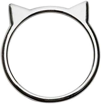 Sterling Silver Cat Ear Ring by Silver Phantom Jewelry