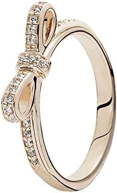 Pandora Sparkling Bow Ring, Pandora Rose, Clear CZ 180906CZ-56 7.5 US, 56 Euro