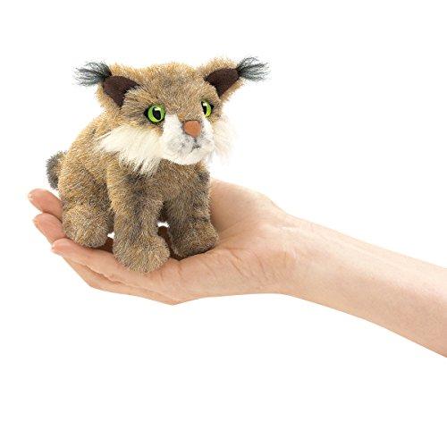 Folkmanis Mini Bobcat Finger Puppet (Cat Puppet Folkmanis Hand)