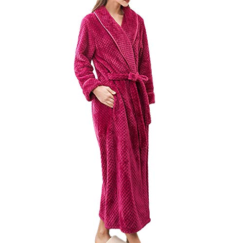 - Dainzuy Sleepwear Plus Size Luxury Cotton Towelling Bath Robe Unisex Dressing Gown Terry Towel Nightwear Hot Pink