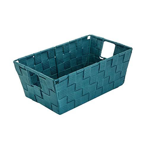 Simplify Woven Decorative Basket Storage Shelf Tote,