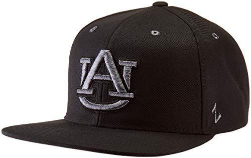 ZHATS NCAA Auburn Tigers Men's Z11 Ebony Snapback Cap, Adjustable, Black