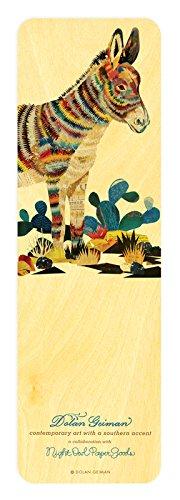 Night Owl Paper Goods Dolan Geiman Burro Real Wood Bookmark ()