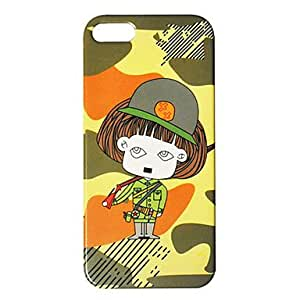 Cartoon Soldier Pattern IML Technology PC Hard Case for iPhone 5/5S