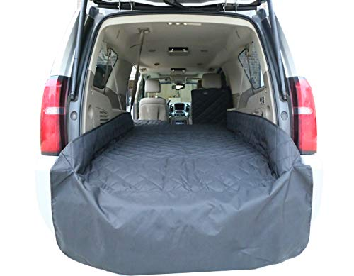 (Plush Paws Upgraded Refined Cargo Liner for Dogs and Pets - Waterproof & Nonslip Silicone Backing for Trucks & Suv's, YKK Zippers and Bumper Flap (Extra Large, Black))