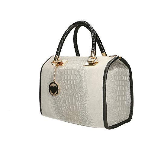 Chicca In Bag Italy Pelle Borse Cm Grigio Made Borsa Mano A X7FnXqrU