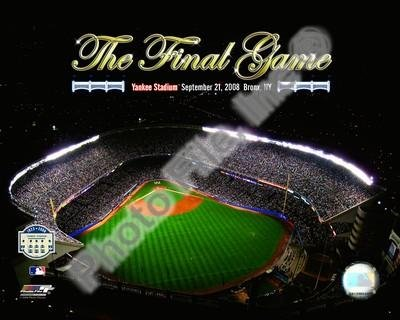 Yankee Stadium Aerial The Final Game 2008 With Overlay by Unknown 10.00X8.00. Art Poster Print
