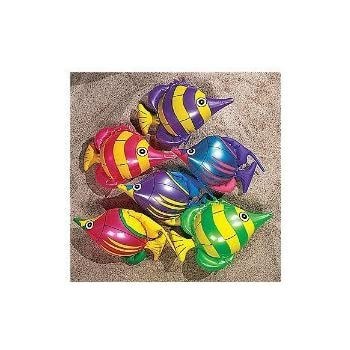 Fun Express Inflatable 14 inch Tropical Fish Toy (1 Dozen)
