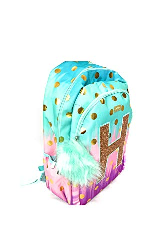 d54f9905a19b Jual Justice Girls Dot Ombre Foil School Backpack Letter Initial ...