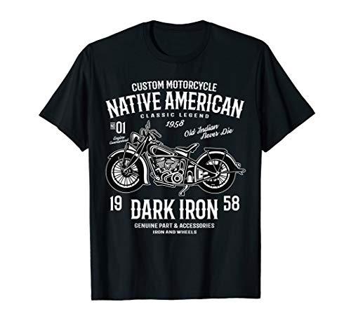 Native American Classic Motorcycle Biker T-Shirt