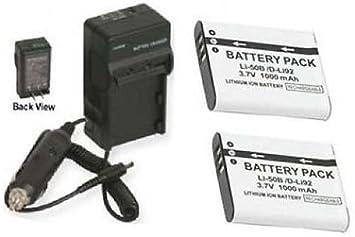 Li-50B Li-ion Batería Cargador para Olympus 9010 SZ-10 SZ-20 SZ-30 1010 1020
