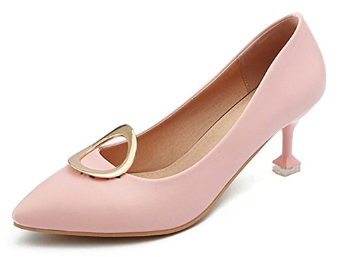 Escarpins Aisun Chaussures Elégant Mariage Rose Fille Tire Basse Femme De Ronde Bal CvqZw41CF