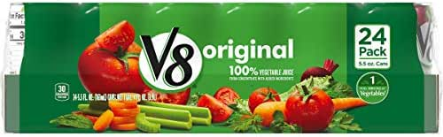 V8 Original 100% Vegetable Juice, 5.5 oz. Can
