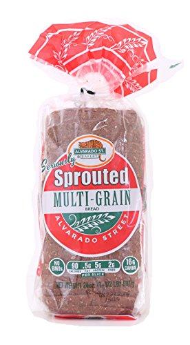 Alvarado Rye Bread - Alvarado Street Bakery Organic Sprouted Wheat Multi-Grain Bread, 24 Ounce - 6 per case.