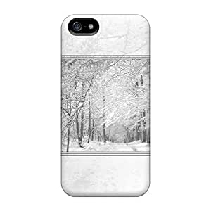 Durable Protector Case Cover With Snow White Hot Design For Iphone 5/5s