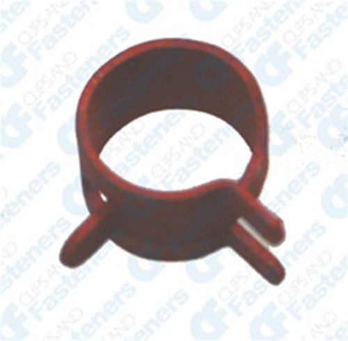 "100  1//2/"" Spring Action Hose Clamps Red"