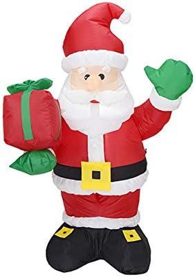 YBT サンタクロース エアーディスプレイ クリスマス 人形 クリスマスデコレーション 空気充填 LEDライト 送風機付き 雰囲気作り 舞台道具 店舗装飾 クリスマス イベント 文化祭 学園祭 パーティー