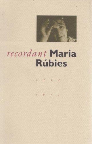 Descargar Libro Recordant Maria Rúbies Desconocido
