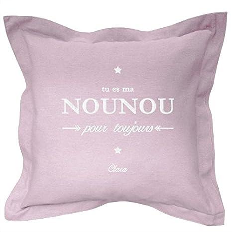 Cojín Personalizado con nombre bordado - regalo Nounou ...